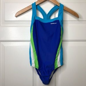 Speedo One Piece Racerback Swimsuit Sz 12(Girls)